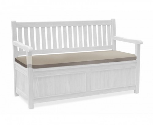 Taupe 3-Seater Storage Bench with Arms Cushion