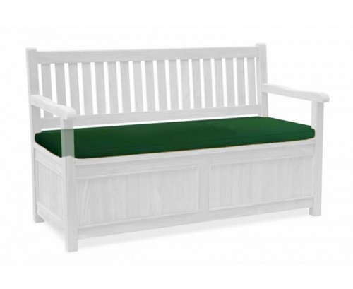 Green 3-Seater Storage Bench with Arms Cushion