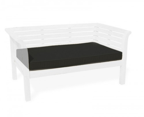 Black 1.28m Outdoor Daybed Cushion