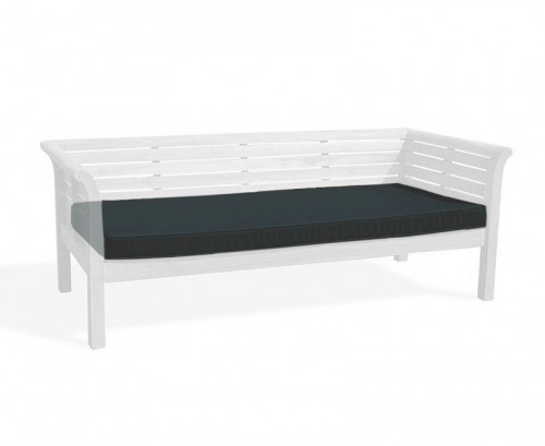 Black 2m Outdoor Daybed Cushion