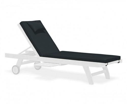 Black Sun Lounger Cushion