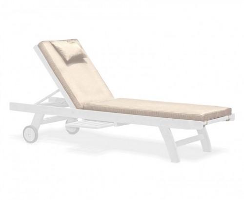 Natural Sun Lounger Cushion