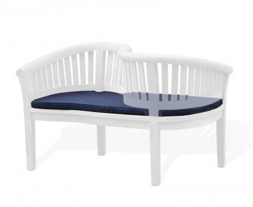 Navy Blue Outdoor Loveseat Cushion