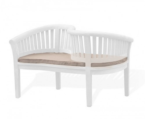 Taupe Outdoor Loveseat Cushion