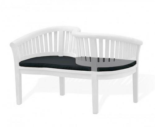 Black Outdoor Loveseat Cushion