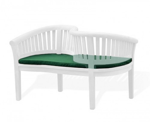 Forest Green Outdoor Loveseat Cushion
