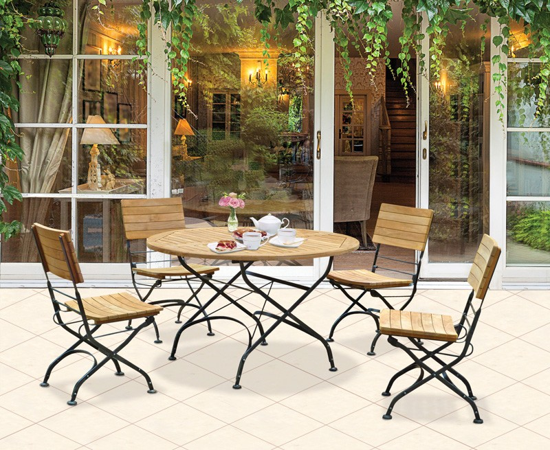 outdoor round folding bistro table and chairs set garden patio