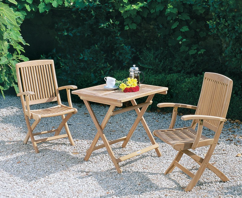rimini patio garden folding table and arm chairs set outdoor 2 seater folding dining set. Black Bedroom Furniture Sets. Home Design Ideas