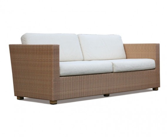 Riviera Rattan 4-piece Sofa Set, Wicker Patio Sofa Set - Lindsey Teak