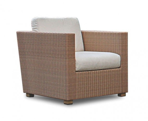 Riviera Poly Rattan Outdoor Sofa Set - Lindsey Teak