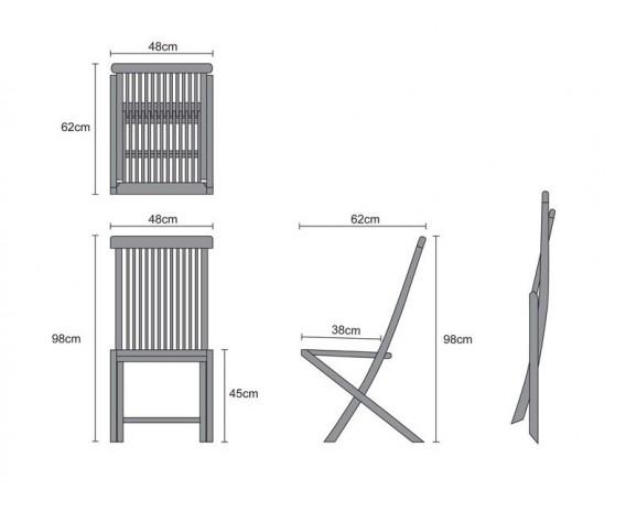 ... rectangular-garden-folding-table-and-chairs-set-outdoor- ...  sc 1 st  Lindsey Teak & Rimini Rectangular Garden Folding Table and Chairs Set - Outdoor ...