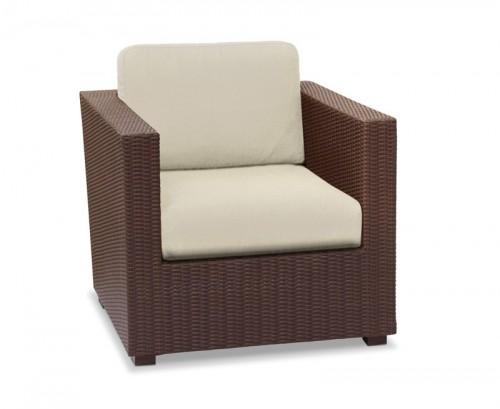 Java Brown Riviera Rattan Sofa Armchair