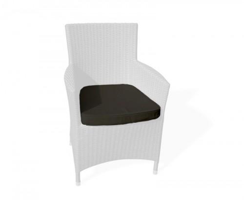 Black Riviera Rattan Chair Cushion