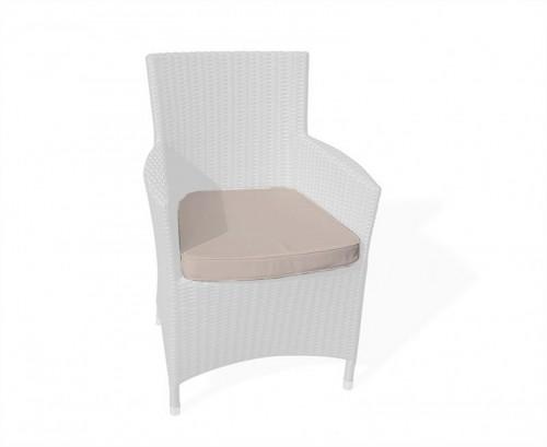 Taupe Riviera Rattan Chair Cushion