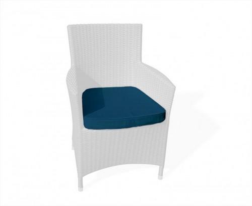 Navy Blue Riviera Rattan Chair Cushion