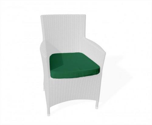 Forest Green Riviera Rattan Chair Cushion