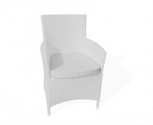 Grey Marl Riviera Rattan Chair Cushion