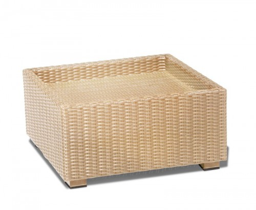 Honey Wicker Riviera Rattan Footstool (No Cushion)