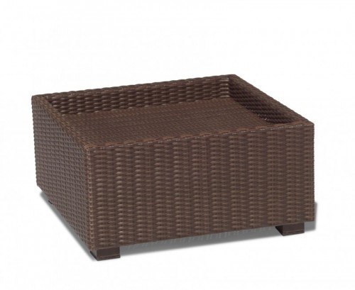 Java Brown Riviera Rattan Footstool (No Cushion)