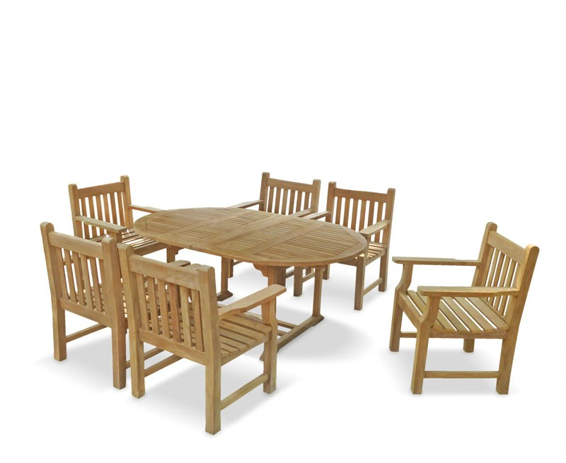 Six Seater Extending Dining Set ...