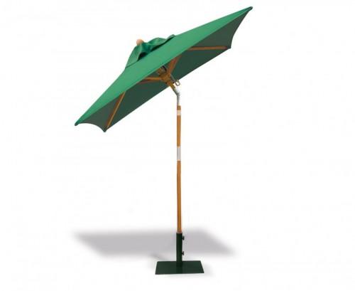 Green 2m Square Tilting Parasol