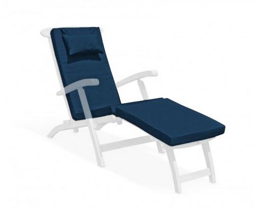 Navy Blue Steamer Chair Cushion