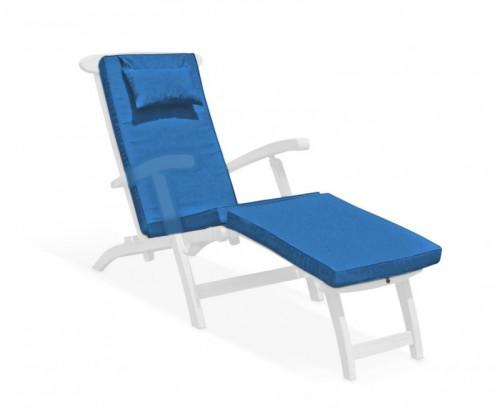Azure Blue Steamer Chair Cushion