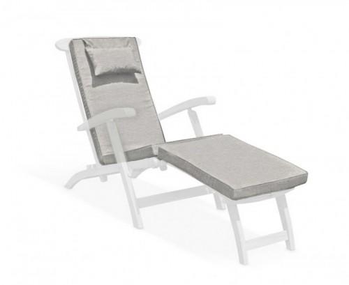 Grey Marl Steamer Chair Cushion