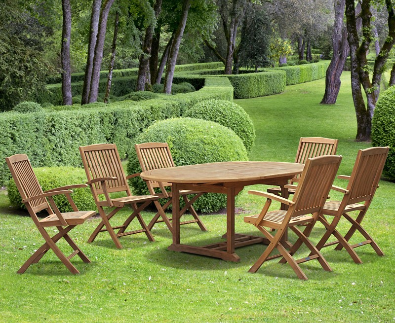 Brompton Teak Extendable Garden Table and Chairs | Lindsey ...