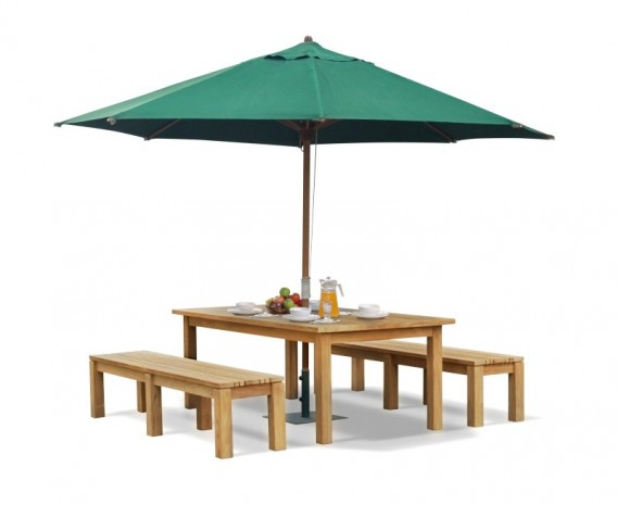 Wondrous Chichester Teak Garden Table And Benches Set 2M Lindsey Teak Cjindustries Chair Design For Home Cjindustriesco