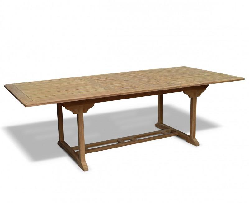 Dorchester Teak Rectangular Extending Garden Table 1 8m