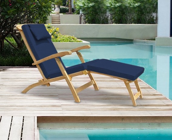 Exceptionnel ... Teak Steamer Chair Brass ...