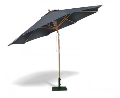 Black 3m Round Tilting Parasol