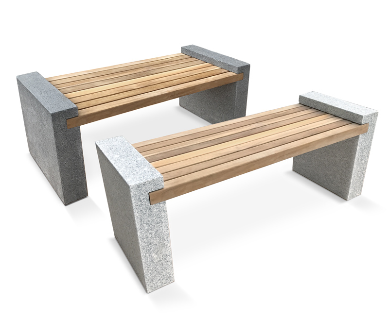 Gallery Teak And Granite Bench Lindsey Teak