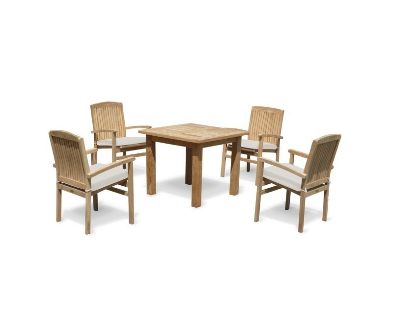 Balmoral 4 Seater Garden Table And Stacking Chairs