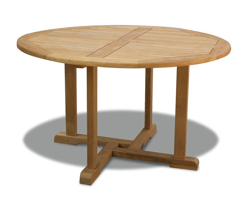 Canfield Patio Table And Bali Stacking Chairs Lindsey Teak - Round teak patio table and chairs