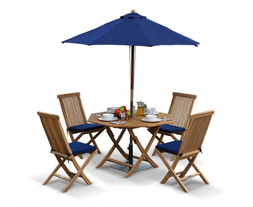 Suffolk Octagonal Folding Garden Table And Chair Set
