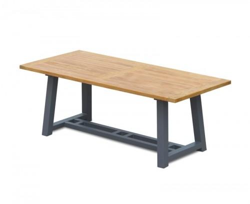 teak-garden-trestle-table-rectangular-steel-legs-2m